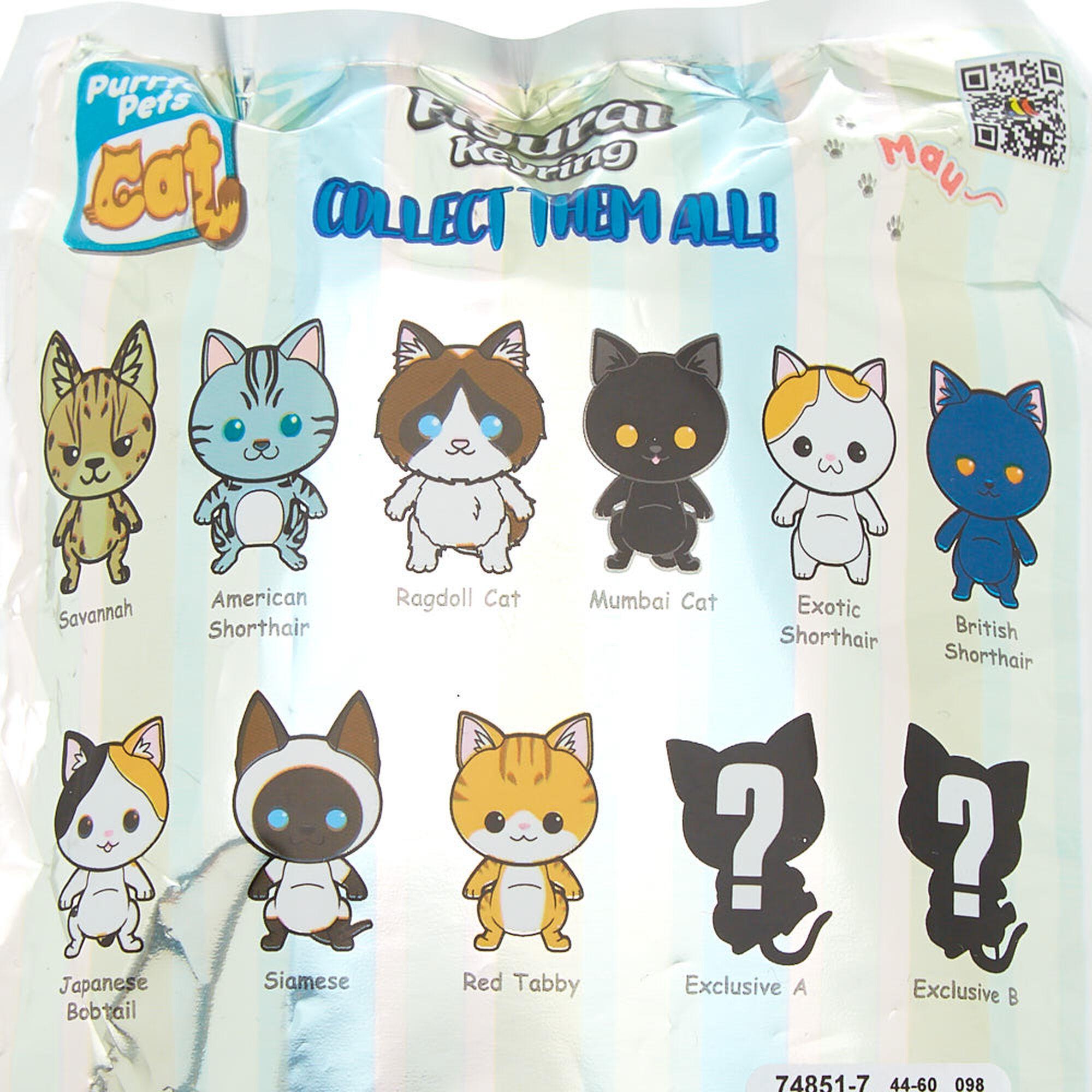 Purrfect Pets Cat Figural Key Chain Blind Bag | Claire\'s US