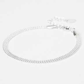 Silver Beaded Chain Anklet,