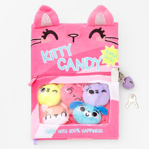 Kitty Candy Furry Lock Diary - Pink,