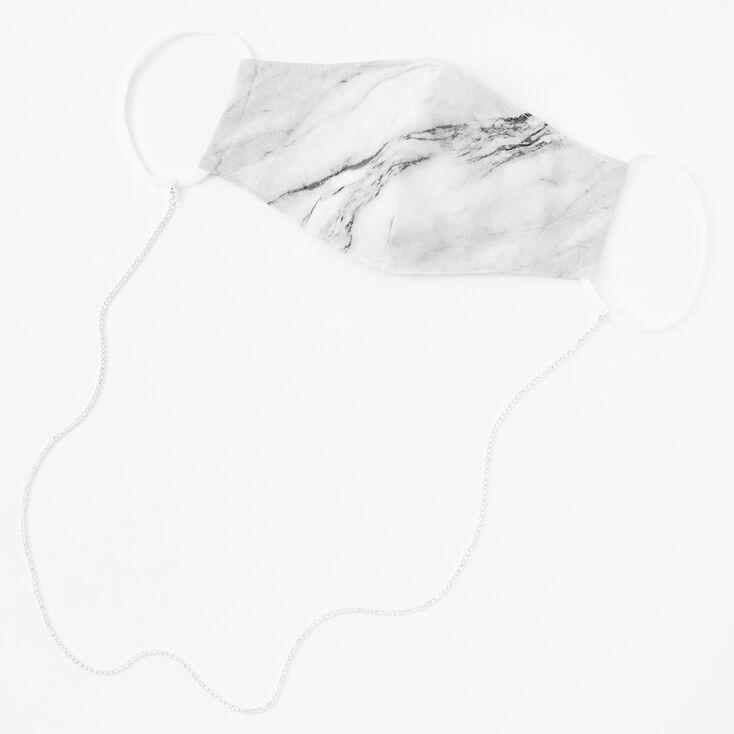 Silver Rhinestone Face Mask Chain Lanyard,