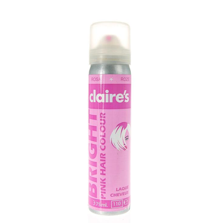 Laque pour cheveux de couleur rose vif,