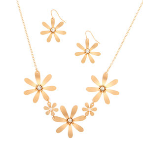 Brushed Gold Floral Jewellery Set - 2 Pack,