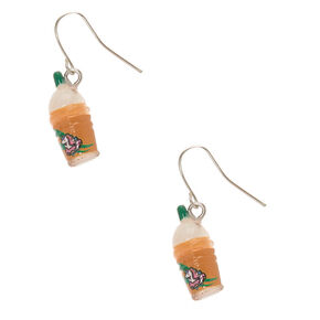 "1"" Unicorn Frappe Drop Earrings,"