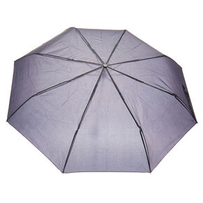 Plain Black Compact Umbrella,