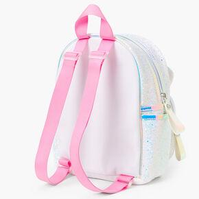 Glitter Unicorn Glitter Mini Backpack - White,