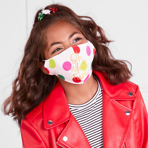 Cotton 'Oh What Fun' Face Masks - Adult,