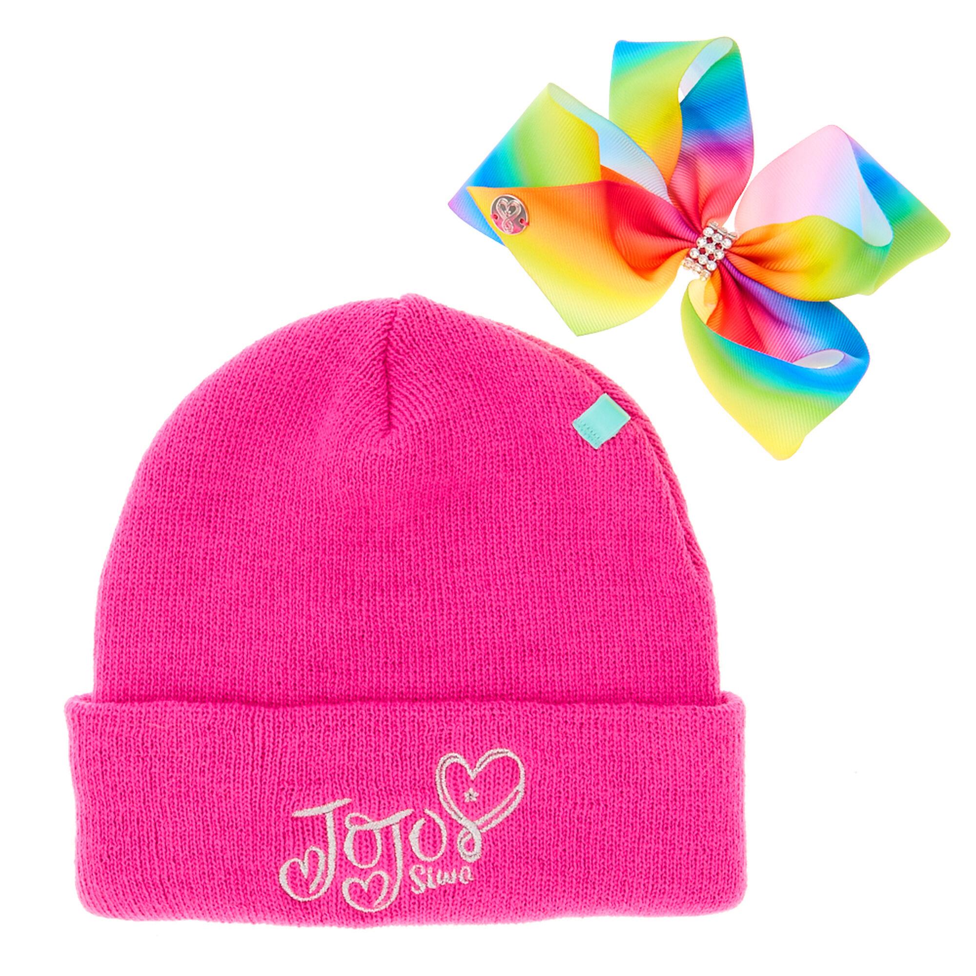 ... JoJo Pink Bow Beanie Hat f6159c661f7