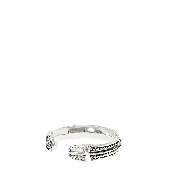 Claire's - toned texturized toe ring - 1