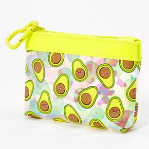 Smiling Avocado Zip Coin Purse,