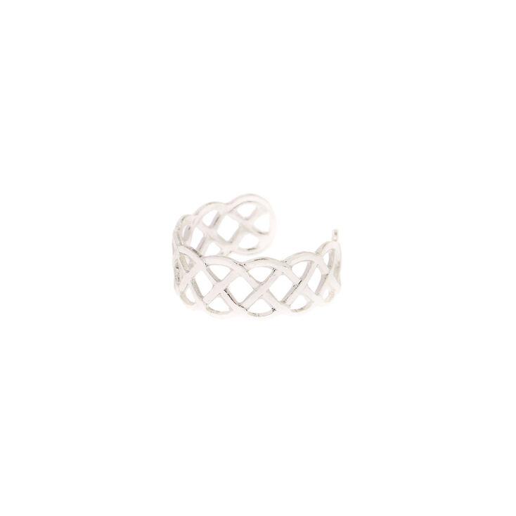 Silver Celtic Knot Toe Ring,