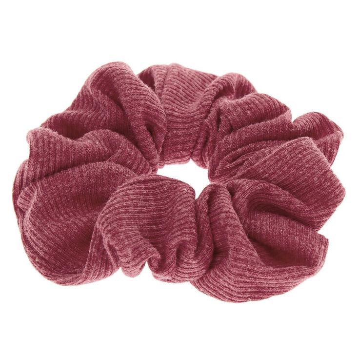 Medium Ribbed Hair Scrunchie - Burgundy,