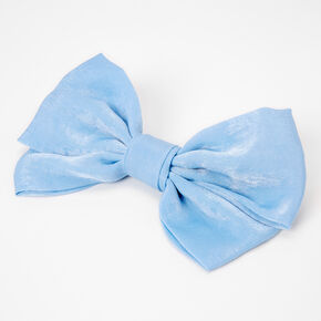 Grande barrette à nœud – Bleu,
