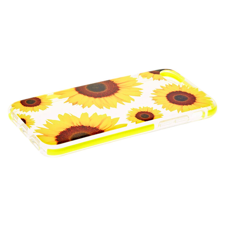 Sunflower Clear Protective Phone Case - Fits iPhone 6/7/8/SE,