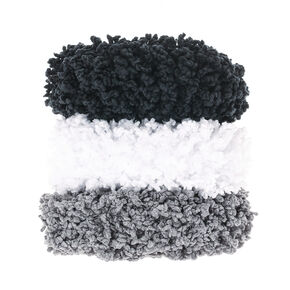 Small Neutral Fuzzy Hair Scrunchies - 3 Pack,