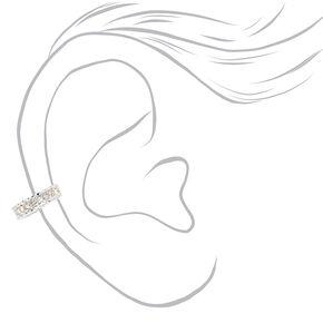 Silver Embellished Zig Zag Ear Cuffs - 3 Pack,
