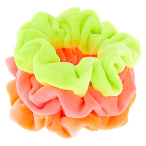 Claire's Club Small Neon Velvet Hair Scrunchies - 3 Pack,