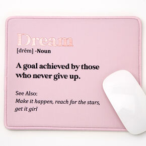 Dream Mouse Pad - Pink,