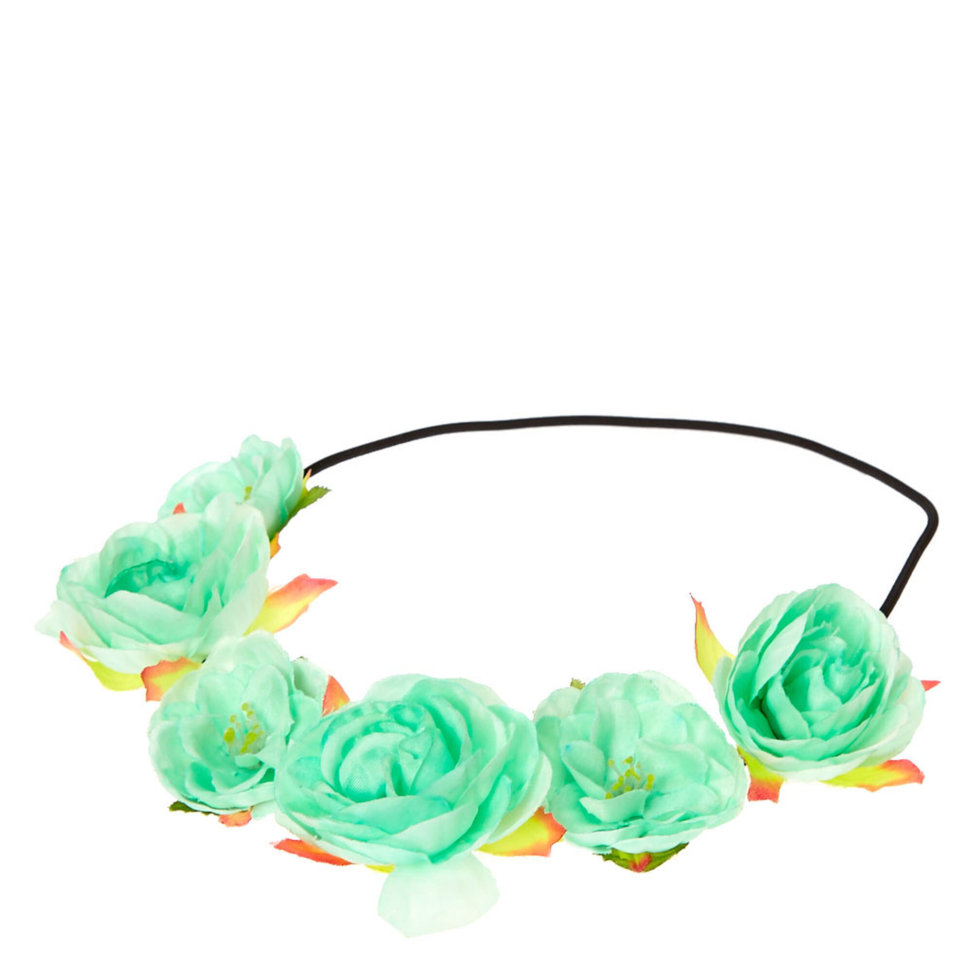 Mint flower crown headwrap claires mint flower crown headwrap izmirmasajfo