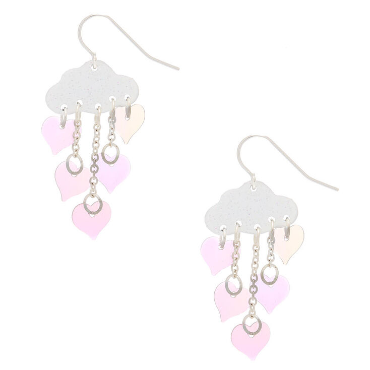 Holographic Sequin Cloud Glitter Drop Earrings,