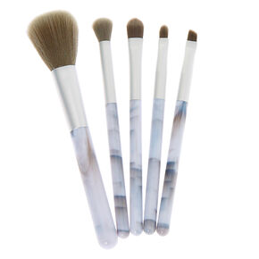 Mellow Marble Makeup Brush Set - White, 5 Pack,