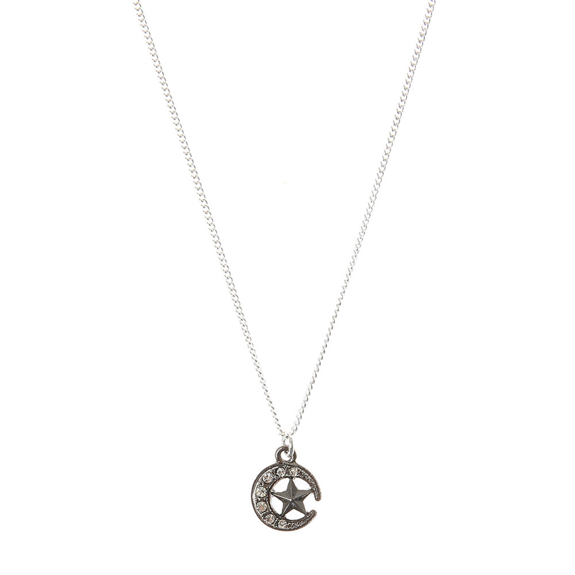 Moon and star pendant necklace claires us moon and star pendant necklace aloadofball Gallery