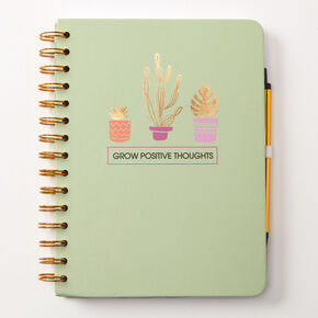 Journal intime «Grow Positive Thoughts» - Vert,
