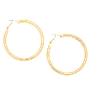 Gold 60MM Tube Hoop Earrings,