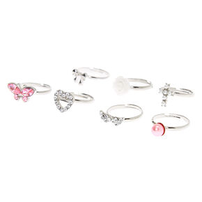 Claire's Club Elegant Rings - 7 Pack,