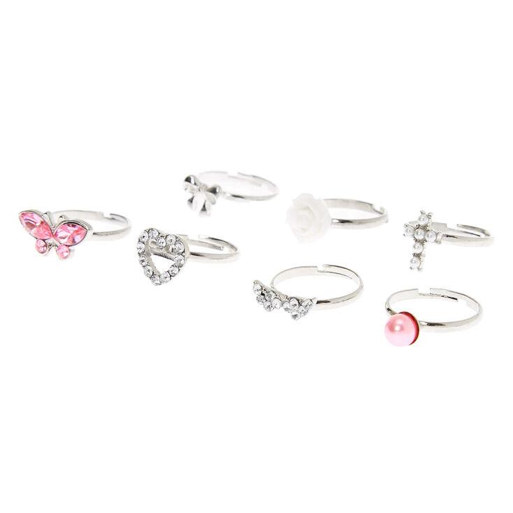 Claire's Club Elegant Rings - 7 Pack,