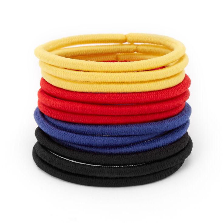 Primary Colors Hair Ties - 12 Pack,