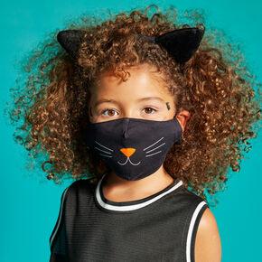 Cotton Black Cat Face Mask - Adult,