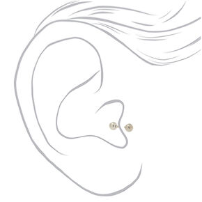 Silver 16G Classic Tragus Stud Earring,