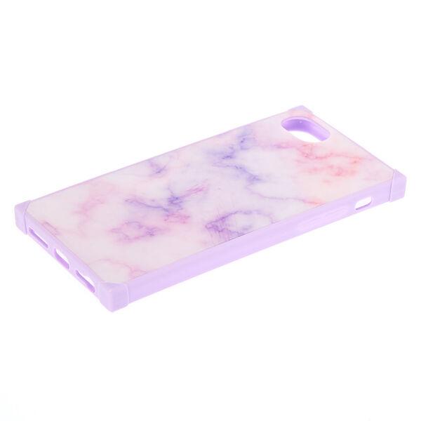 Claire's - pastel marble square phone case - 2