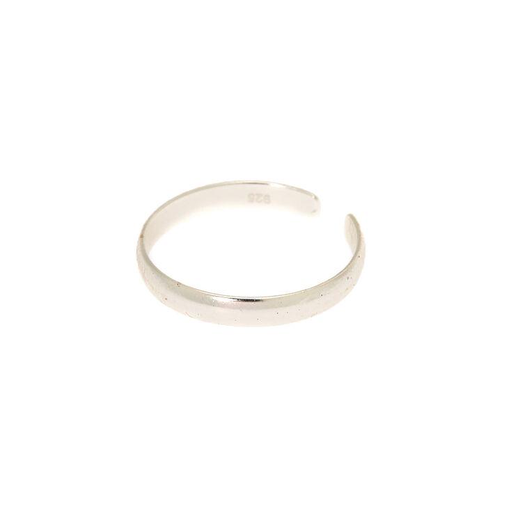 Claire's Bague d'orteil à anneau classique en argent