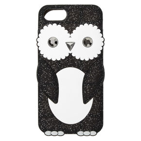 Glitter Penguin Silicone Phone Case - Fits iPhone 6/7/8/SE,
