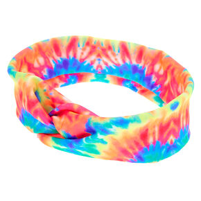 Neon Tie Dye Twisted Headwrap,