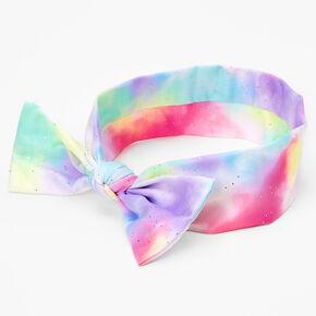 Claire's Club Glitter Tie-Dye Print Bandana Headwrap,