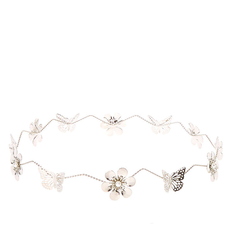 Silver Flower and Butterfly Flower Crown 6cade0cc7e3