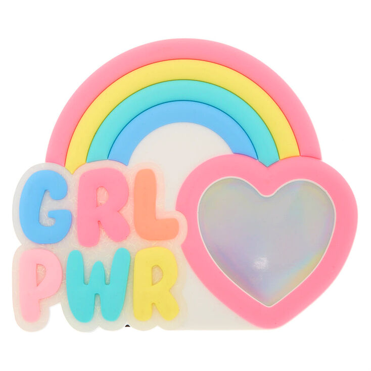 Rainbow GRL PWR Frame | Claire\'s US