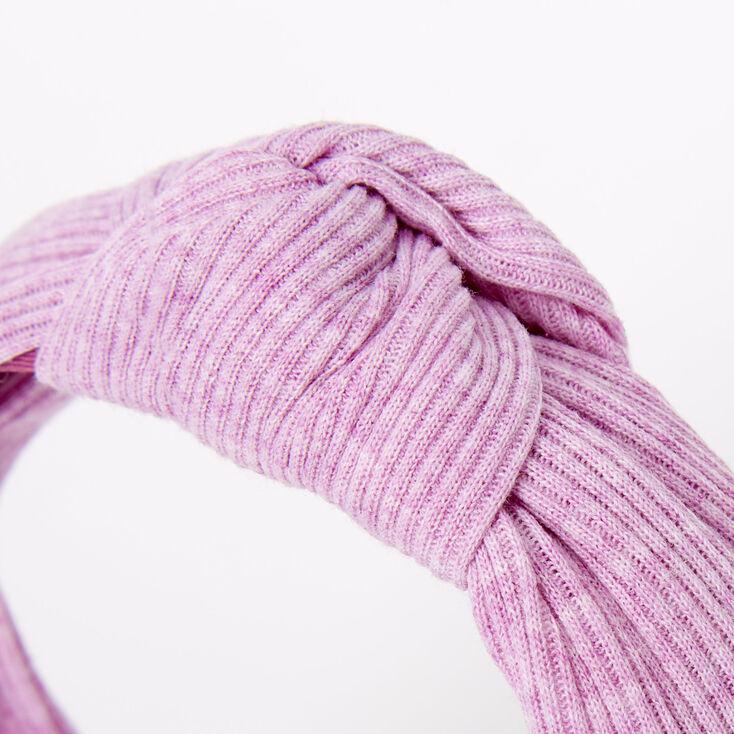 Ribbed Knotted Headband - Lilac,