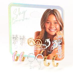 Sky Brown™ Mixed Metal  Earrings - 6 Pack,