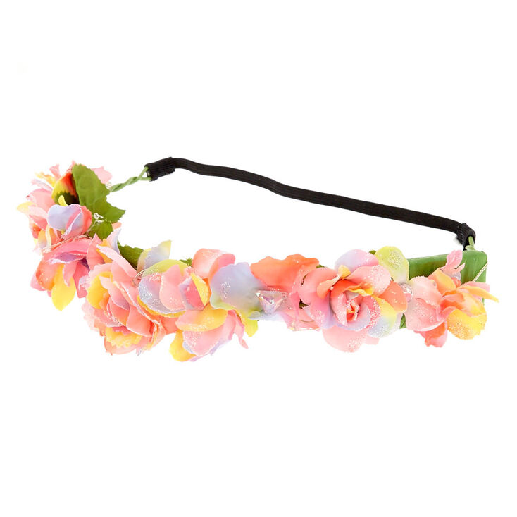 Claire\'s Light Up Rainbow Flower Crown