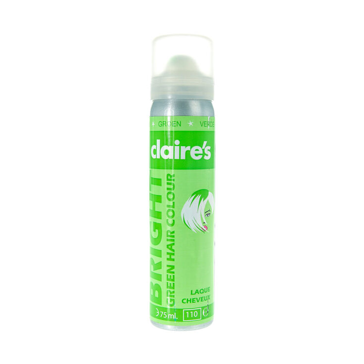 Bright Green Hair Colour Spray Claires