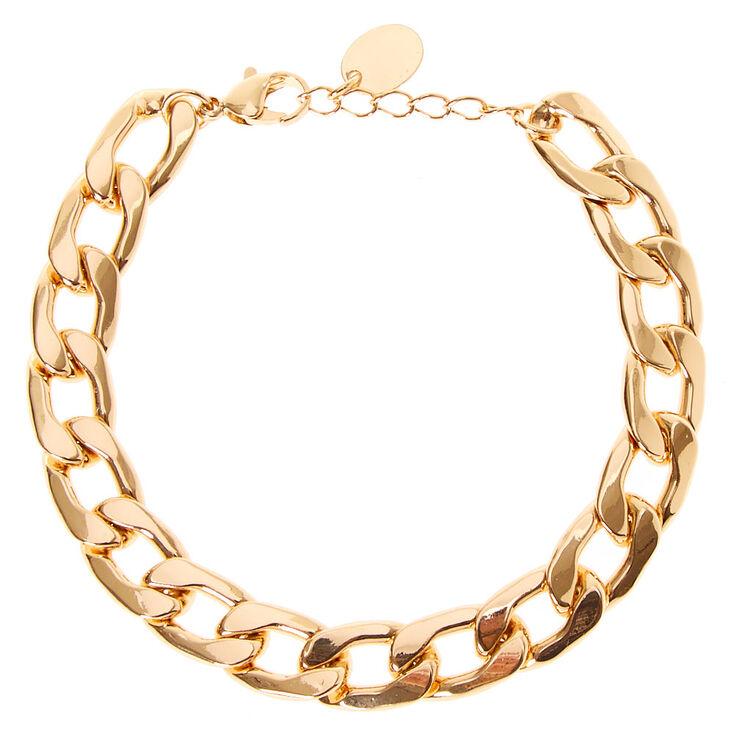 Gold Chain Link Bracelet,