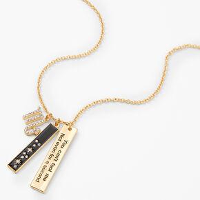 Collier à pendentif zodiaque rectangulaire couleur dorée - Scorpion,