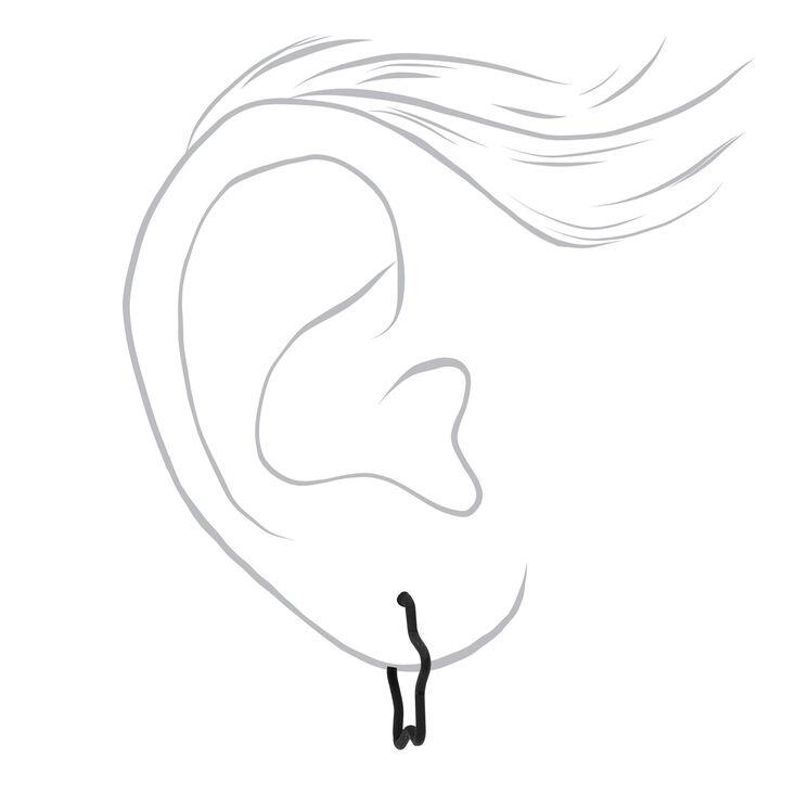 Mixed Metal Star Stud & Hoop Earrings - 9 Pack,