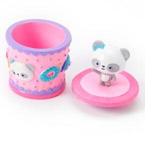 Glittery Panda Trinket Box - Pink,