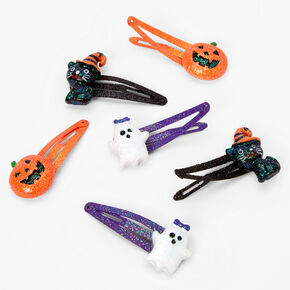 Halloween Icons Glitter Snap Hair Clips - 6 Pack,