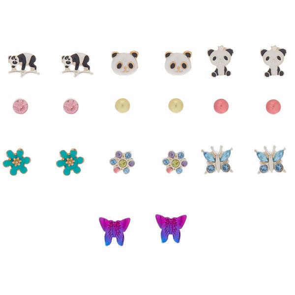 Claire's - pretty panda stud earrings - 1