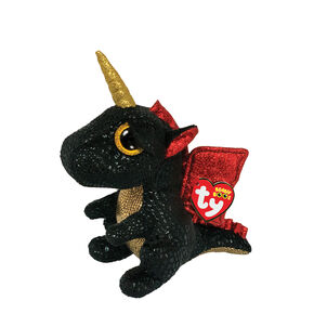 Ty Beanie Boo Small Grindal the Unicorn Dragon Plush Toy,